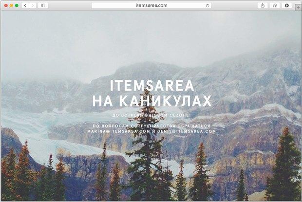 Интернет-магазин Items Area приостановил работу. Изображение № 1.