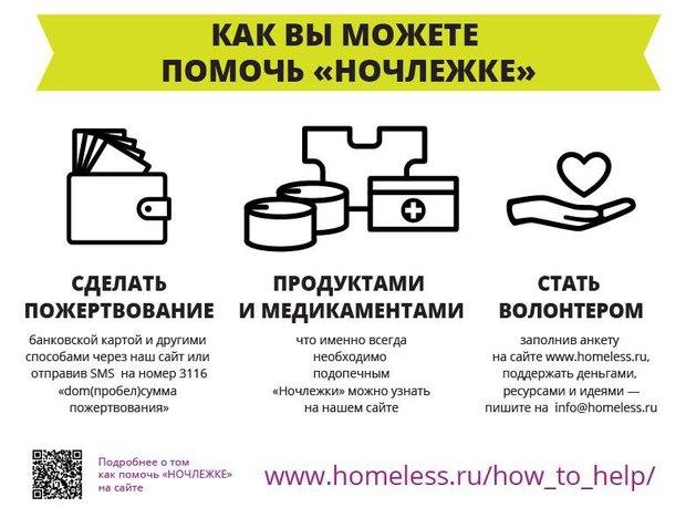 «Ночлежка» выпустила инфографику опроблеме бездомности. Изображение № 3.