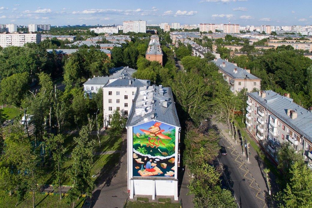Лучшие московские граффити свысоты птичьего полёта. Изображение № 7.