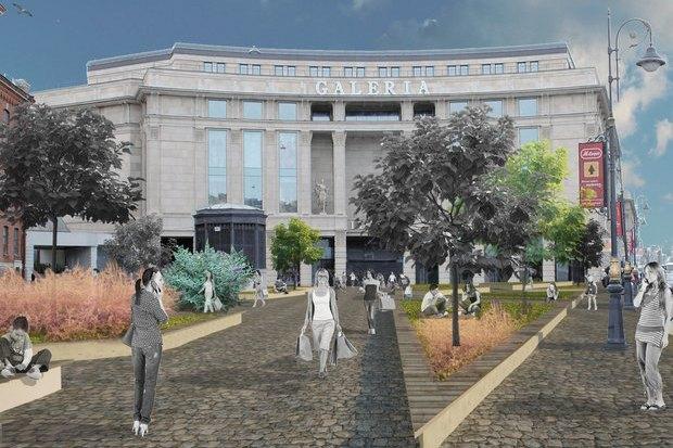 Перестройка: Проект площади перед «Галереей». Изображение № 6.
