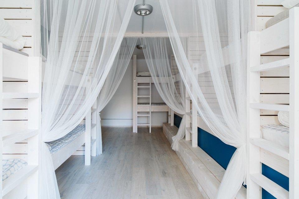 Хостел на«Белорусской» сномерами-каютами идвухэтажной двуспальной кроватью. Изображение № 12.