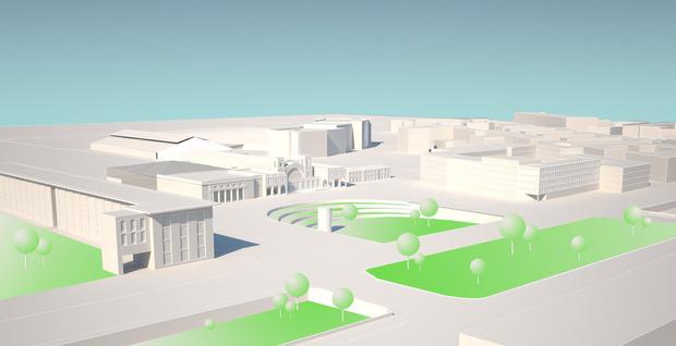 Авторы проекта представляют площадь в виде своеобразного амфитеатра. Изображение № 15.