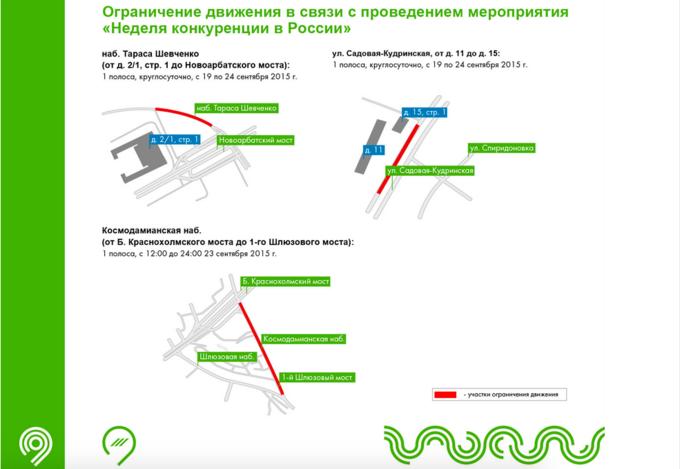 В центре перекроют несколько улиц в связи с проведением мероприятия «Неделя конкуренции России». Изображение № 1.