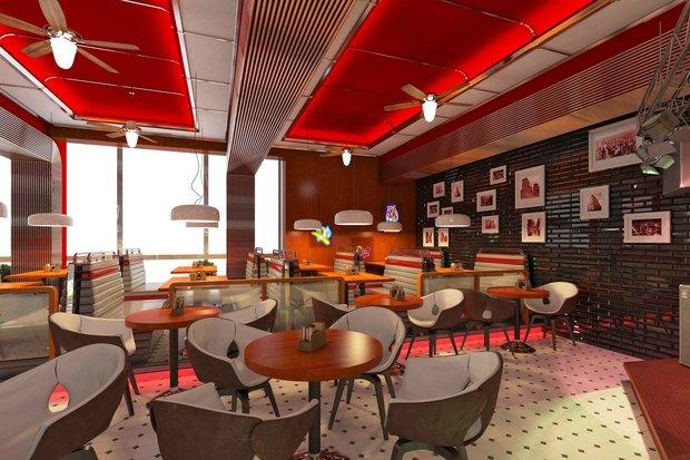Ресторан «Две палочки» в американском стиле откроют на «Проспекте Ветеранов». Изображение № 5.