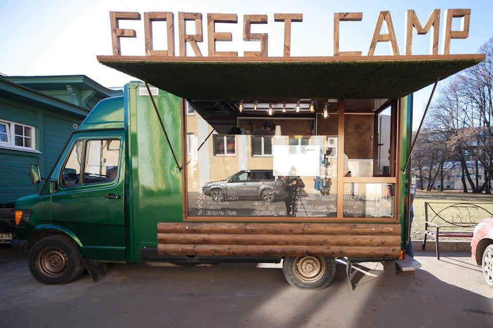 Фургон Forest Camp вБотаническом саду . Изображение № 1.