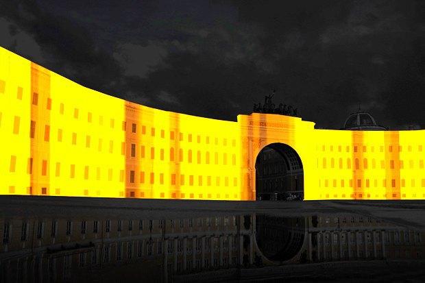 На ночь глядя: 12 проектов подсветки Главного штаба. Изображение № 62.