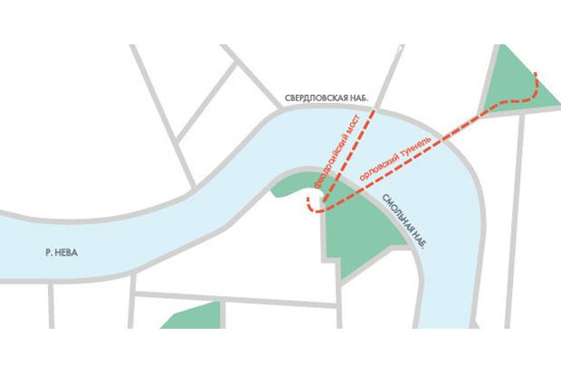 Вместо Орловского туннеля в центре могут построить неразводной мост . Изображение № 1.