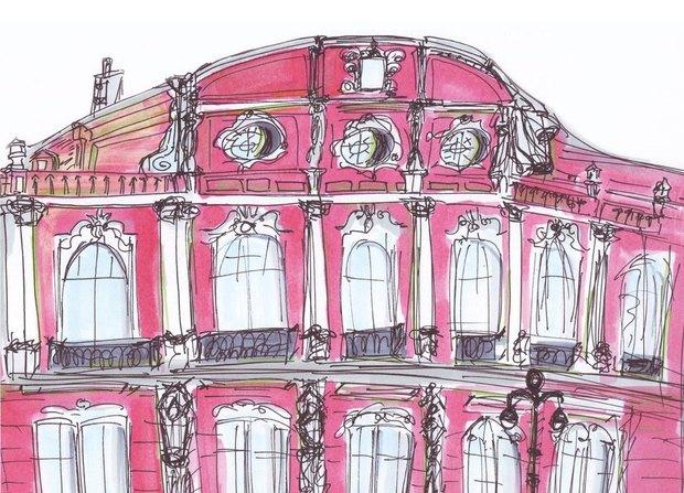 «Буше» выпустили сувенирные открытки силлюстрациями оПетербурге. Изображение № 2.