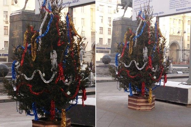 Москвичам разрешили перенарядить ёлки на Тверской улице. Изображение № 1.