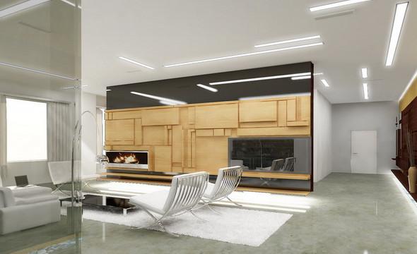 Интерьер квартиры в ЖК «Дом у моря» на Крестовском. Проект находится в стадии реализации.. Изображение № 11.