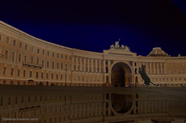На ночь глядя: 12 проектов подсветки Главного штаба. Изображение № 19.
