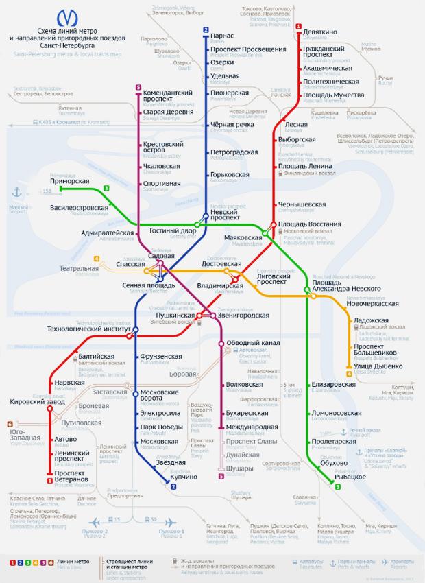 Карты на стол: 11 альтернативных схем петербургского метро. Изображение № 16.