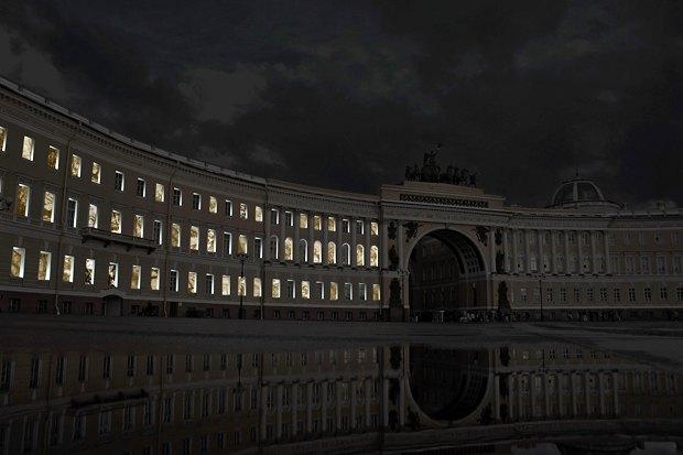 На ночь глядя: 12 проектов подсветки Главного штаба. Изображение № 91.