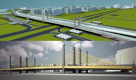 На перекёстке Дунайского проспекта и Пулковского шоссе начали строить транспортную развязку. Изображение № 1.