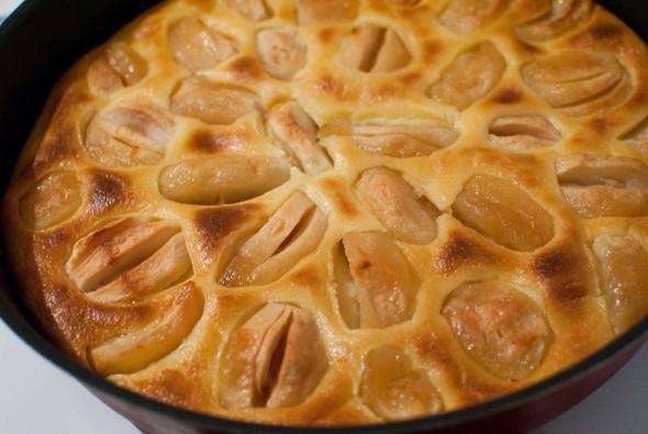 Яблочный пирог с заварным кремом. Изображение № 1.