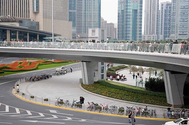 Идеи для города: Круглый пешеходный мост в Шанхае. Изображение № 12.