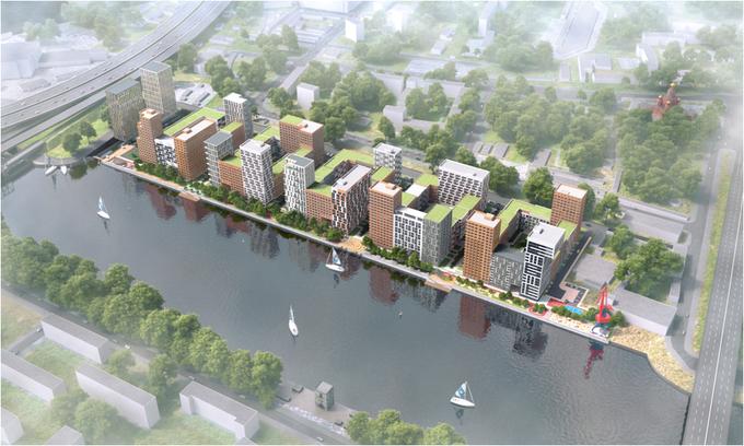 В «Москва-Сити» планируют построить жилой комплекс с причалом имини-пляжем. Изображение № 1.