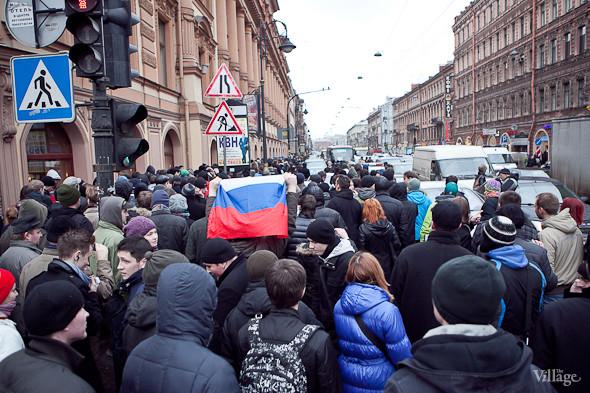 Фоторепортаж: Митинг против фальсификации выборов в Петербурге. Изображение № 7.