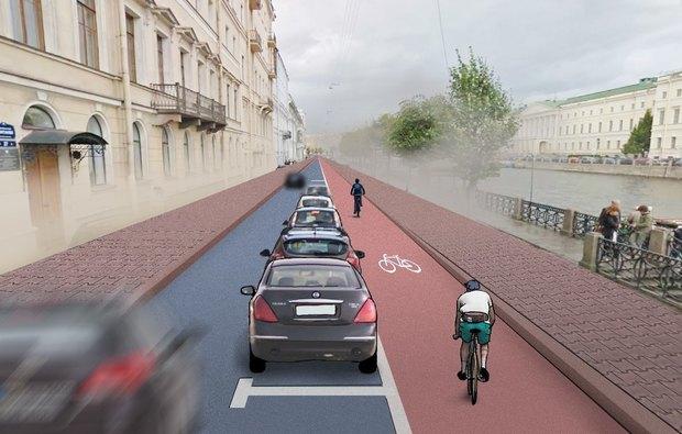 Перестройка: велодорожки на Гороховой инабережной Фонтанки. Изображение № 4.