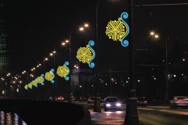 Великие луки: Как украсят Москву к Новому году. Изображение № 74.