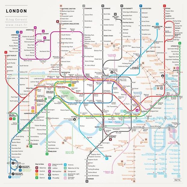 Французский дизайнер нарисовал свою схему московского метро. Изображение № 1.
