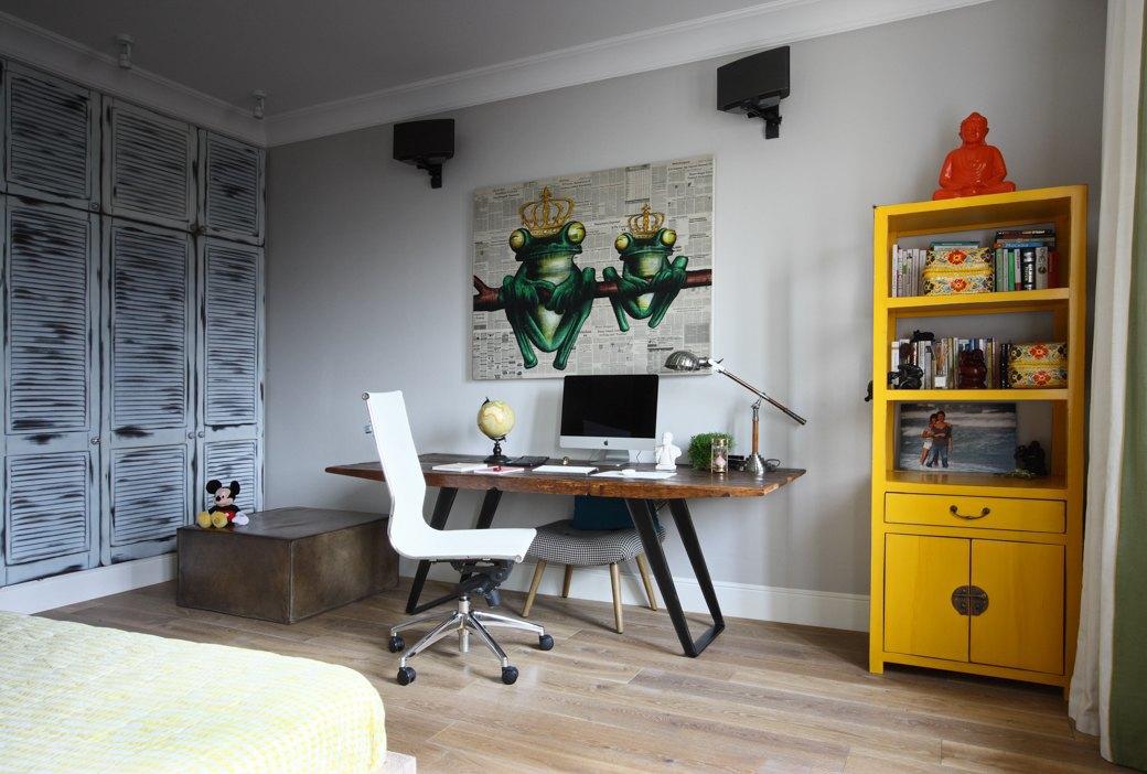 Просторная квартира на Цветном бульваре сбалийскими мотивами. Изображение № 10.