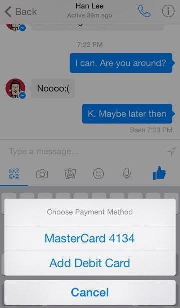 Facebook запускает систему денежных переводов в своём мессенджере. Изображение № 1.