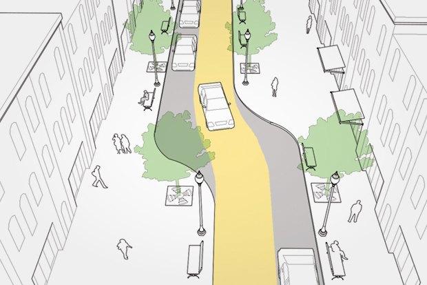 «Городские проекты» разработали проект реконструкции Малой Бронной улицы. Изображение № 1.