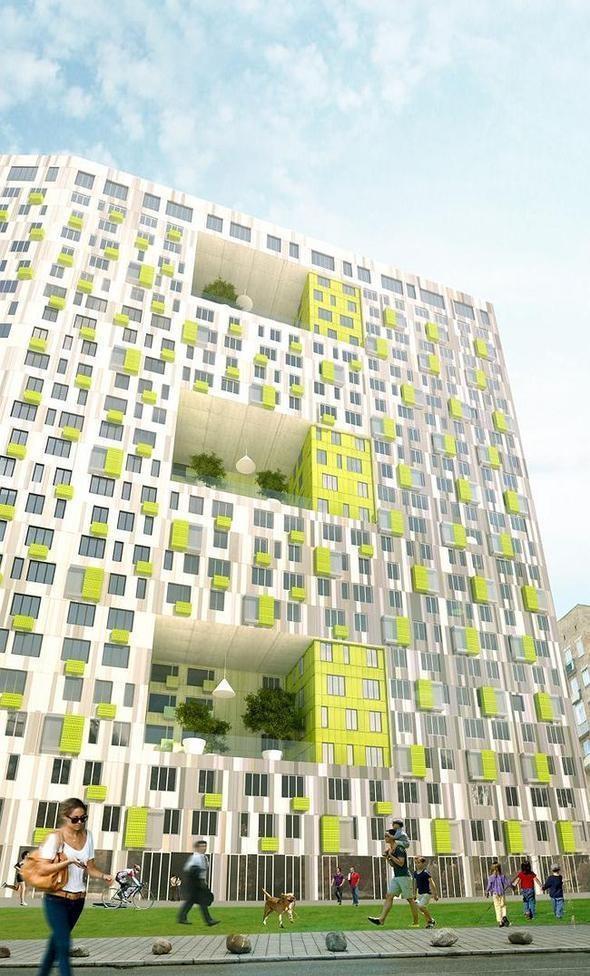 Изображение 1. В Москве построят многоэтажку с зелёными дворами на разных этажах.. Изображение № 3.