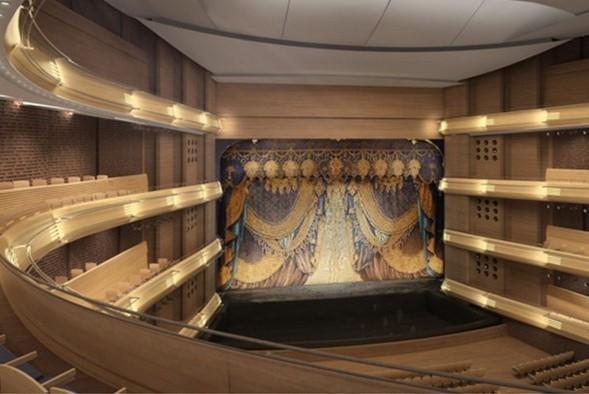Вид на зрительный зал, сцену и занавес. Изображение № 30.