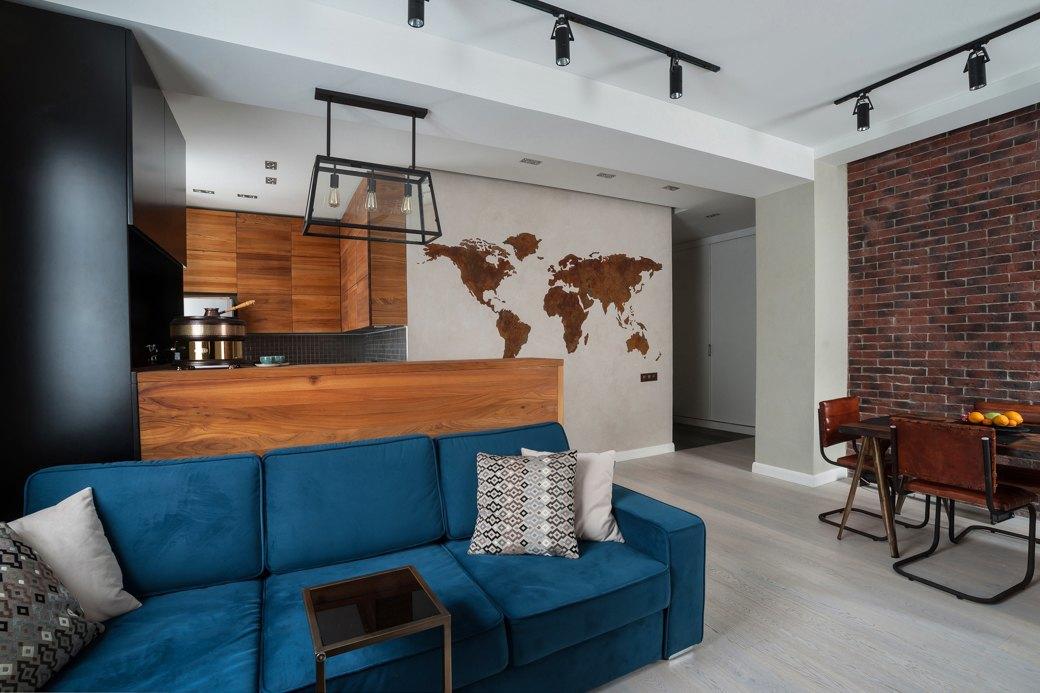 Минималистичная квартира для заядлого путешественника. Изображение № 2.