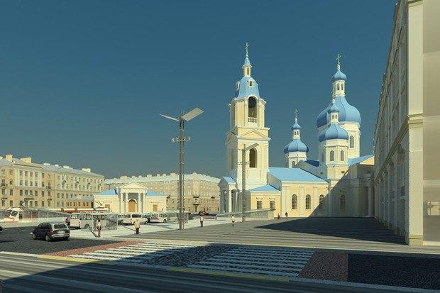 Смольный утвердил проект реконструкции Сенной площади. Изображение № 4.
