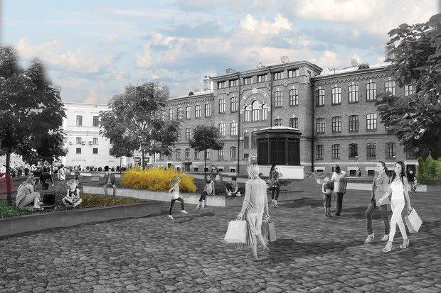 Перестройка: Проект площади перед «Галереей». Изображение № 5.