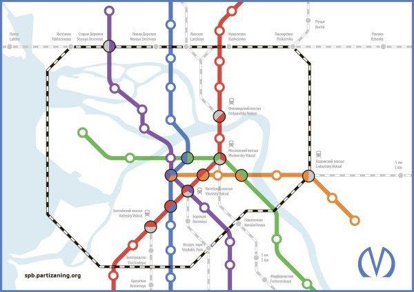 Для петербургского метро нарисовали альтернативную схему. Изображение № 2.