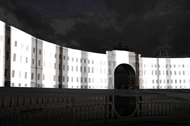 На ночь глядя: 12 проектов подсветки Главного штаба. Изображение № 60.