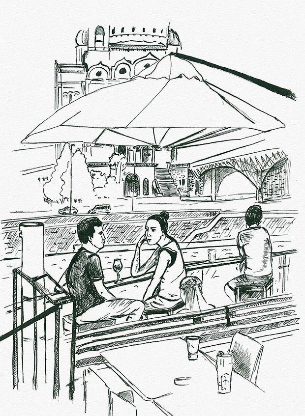 Клуб рисовальщиков: Бар «Стрелка». Изображение № 3.
