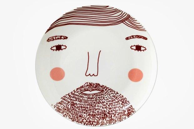 Тарелка Beardy Man Face, Donna Wilson, 1 032 р.. Изображение № 9.