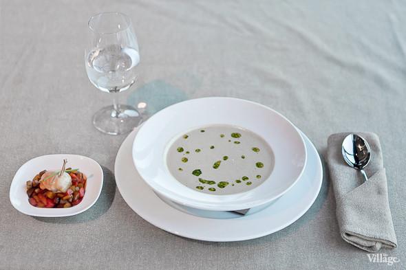 Суп-капучино из дичи с котлеткой из перепелки — 380 рублей. Изображение № 42.
