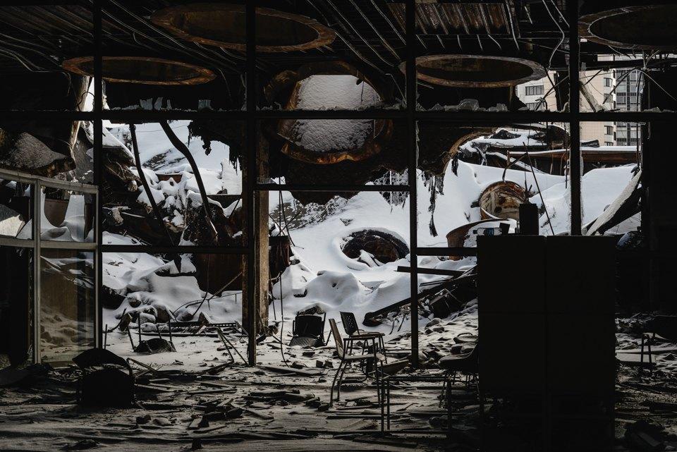Как выглядит библиотека ИНИОН РАН через 9дней после пожара. Изображение № 2.