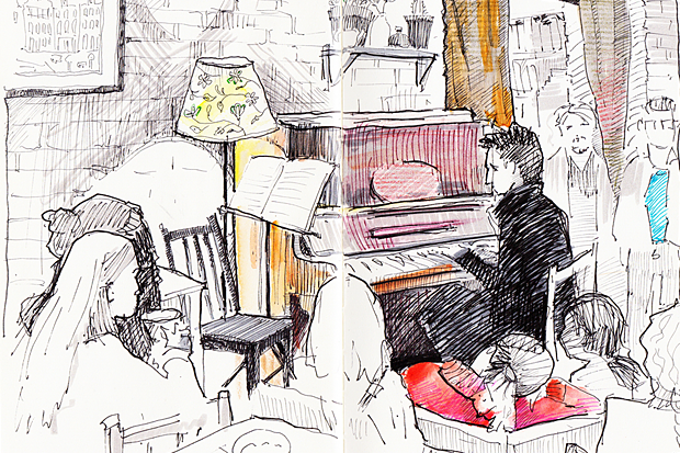 Клуб рисовальщиков: Музыканты. Изображение № 6.
