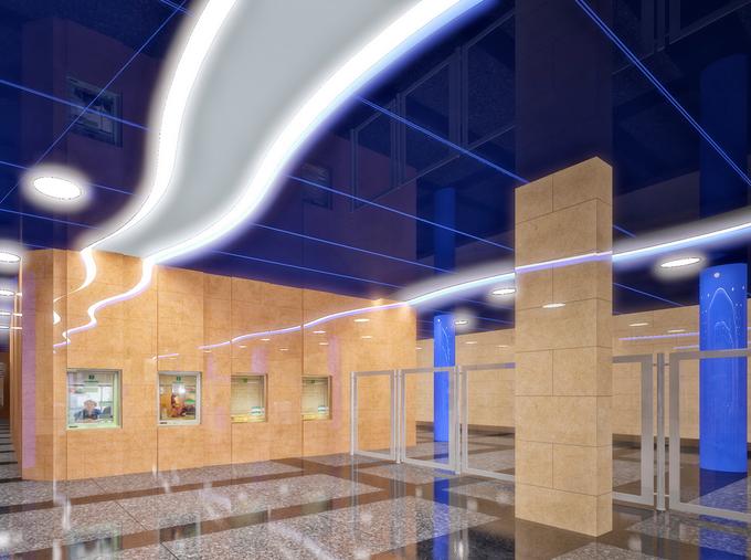 Смольный утвердил внешний вид станции метро «Дунайская». Изображение № 3.