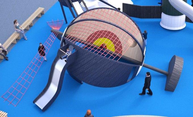 На ВДНХ появится детская площадка смоделями космических кораблей. Изображение № 5.